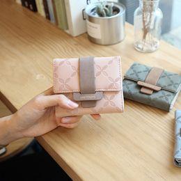 carteiras simples bonitos Desconto Nova 2019 longa carteira de senhoras estudante curto feminino bonito ins pequeno fresco personalidade simples bolsa carteira maré