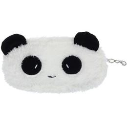 Wholetide-Kawaii Peluche Fluffy Panda Coin Pencil Bag Pouch Caso Pacchetto Pendente Cases Portamonete Portafoglio 72-81 # da