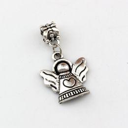 Ailes de coeur antiques en Ligne-100pcs / lots Antique argent Ange Avec Aile Coeur Balancent Charme Perles Fit Collier Charme DIY Accessoires 19x33.8mm A-500a