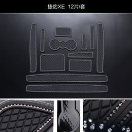 Almohadilla de la ranura de la puerta online-Para el cojín ranura Jaguar XE alfombras antideslizantes Puerta interior de PVC de goma de la puerta estera del cojín / Copa