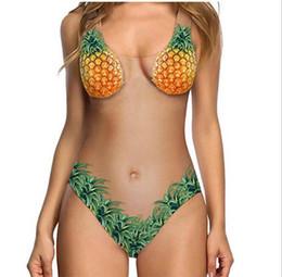 Meloni di costume online-Costume da bagno intero di un pezzo delle donne costume da bagno di melone della pelle di costume da bagno stampato della pelle del costume da bagno di colore della signora