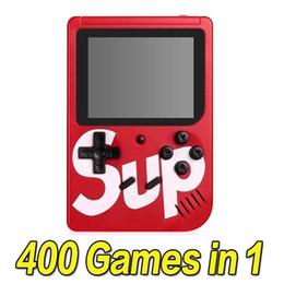 SUP игровая консоль 400 в 1 портативный ручной игровой коврик ретро 8 бит 3 дюйма цветной ЖК-дисплей лучшие подарки для детей от Поставщики игровые приставки продаются оптом