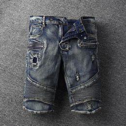 2019 dunkle denimkurzschlüsse männer Balmain Herren Shorts Designer Mann-Sommer-Mode-Strand-Hosen Männer Frauen Tarnmuster lose kurze Hosen