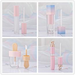 tipi di bottiglie di profumo Sconti Lucidalabbra rosa Tinta Tubi di plastica Trucco vuoto Custodia per rossetto liquido grande lucidalabbra Confezione di bellezza R0414
