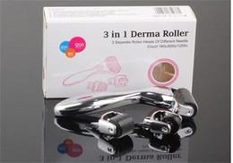 Olho micro agulha on-line-3-em-1 Kit Derma rolo para o corpo e rosto e olho Micro rolos de agulhas 180 600 1200 Needles pele Dermaroller xmas4u