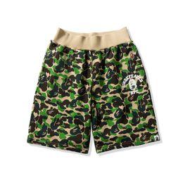 Pantalones cortos de camo púrpura online-Venta al por mayor Summer New Lover Green Purple Camo Print Casual Shorts Hombres Mujeres Hip Hop Shorts de playa sueltos