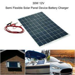 2019 zte android ladegerät Autozubehör 30W 12V Semi Flexible Solar Panel Gerät Ladegerät Car Styling