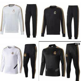 Futbol blanco verde online-2019 20 Real Madrid chaqueta negra camiseta blanca de fútbol nueva camiseta de fútbol verde de distancia ISCO SERGIO RAMOS camiseta de entrenamiento vestimenta