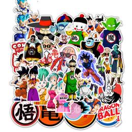2019 adesivos dos decalques das motocicletas 50 unidades / pacote Dragon Ball Anime Etiqueta Mista Para Laptop Carro Skate iPad bicicleta Motocicleta PS4 PS3 Telefone Decalque Pvc Adesivos adesivos dos decalques das motocicletas barato
