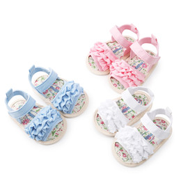 2019 женские сандалии из цветов Baby Girl Flower Sandals Shoe Casual Shoes Sneaker Anti-slip Soft Sole Toddler Shoes girls sandals sandale fille sandali bambina дешево женские сандалии из цветов