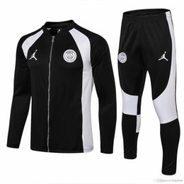 3 set Free DHL psg giacca bianca nera 18 19 Champions League AJ Paris tute da calcio CAVANI maglie da calcio set tute da allenamento MBAPPE da