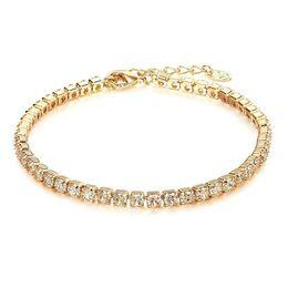 Braquiers pour mariage en Ligne-Cristal De Mariage De Mariée Bijoux De Diamant Nu Bracelet Pas Cher Unique Rangée Bracelet De Zircon Bijoux De Mariée Accessoires
