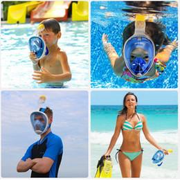 mascara de entrenamiento para Rebajas Al por mayor-2018 Nuevo conjunto de máscara de snorkel de cara completa Buceo Buceo Máscara de natación subacuática Entrenamiento Mergulho Snorkel Máscara Snorkeling