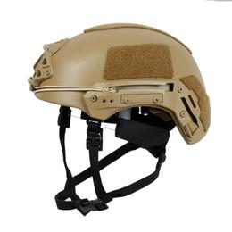Caschi reali online-All'ingrosso-Real NIJ livello IIIA 3A Ballistic UHMW-PE sicurezza e di protezione Caschi EXFIL di reazione rapida PE balistico tattico del casco