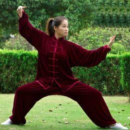 Uniforme de mujer de tai chi online-Tai chi ropa uniforme de mujer traje traje de ropa de mujer de estilo chino chi pantalones blancos traje de invierno otoño FF718