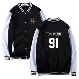Uma direção mulheres on-line-Moda Mulheres Homens Casaco One Direction LOUIS TOMLINSON Jacket