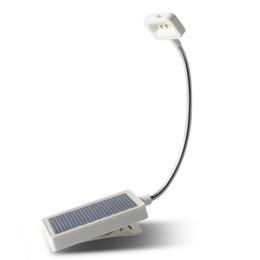 Leitos de leitura flexíveis on-line-3 led solar / usb poder de carregamento flexível clipe de cabeceira leitura livro luzes estudo mesa de luz mesa lâmpada