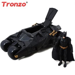 2019 figurine di raccolta Vendita all'ingrosso Action Figure Batman Batmobile Modello mobile Giocattoli The Dark Knight Batman Bat Car Mini 2in1 Collezione Figurine per bambini figurine di raccolta economici