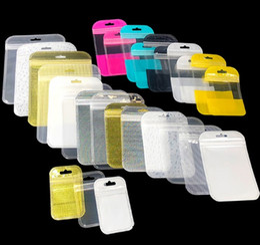 2019 handys zubehör leere boxen Perle Kunststoff Poly OPP Verpackung Reißverschluss Zip-Lock Einzelhandel Pakete PVC-Tasche Fall Tasche für iPhone 6 6s plus Samsung Galaxy