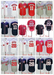 camisa gris oscuro Rebajas Venta al por mayor NATIONALS 22 SOTO 11 ZIMMERMAN 28 WERTH Flex Cool base blanco rojo gris oscuro azul marino Camiseta de jerseys de béisbol ¡Base de alta calidad!