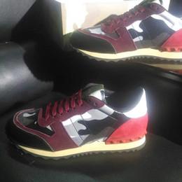 i nomi dei migliori designer Sconti Nome Designer Arena Scarpe Uomo Casual Designer Sneaker Red Fashion High Top Sneaker partito poco costoso nero scarpe Trainer hy189608