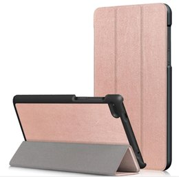Rosa lenovo tablet fall online-100pcs / lot geben Verschiffen intelligenten Custer ledernen Luxuxfall für Tablette PC des Lenovo Vorsprungs 7 wesentlicher 7304F TAB E7 TB-7104F TB-7504F frei