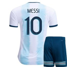 72f903181c9 Discount argentina kits - 2019 Copa América Argentina men soccer Jersey  pants home Kit Soccer Jersey