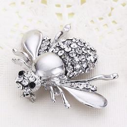 DHL Europa e nos Estados Unidos cross-border moda bonito abelha diamante terno collarpin saia cardigan pin vestido saco acessórios de