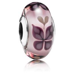 5pcs 925 Sterling Silver Fileté Vis Rose Papillon Bisous Perles De Verre De Murano Fit Européenne Pandora Bijoux Charme Bracelets Collier ? partir de fabricateur