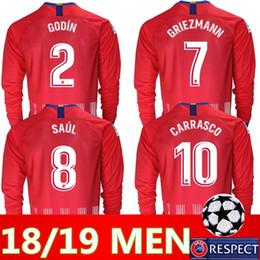 2018 2019 Madrid manga larga RIEZMANN Madrid casa Camiseta de fútbol  Camiseta de fútbol KOKE personalizada SAUL DIEGO COSTA 18 19 atletico short  footbal ... eef3a3d0ba943