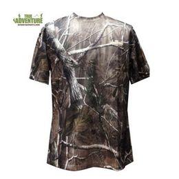 2019 полиэфирные камуфляжные майки Clearance sale specials! Camouflage Men's short Sleeve T Shirt Summer Polyester Men Camo T Shirt for hunting clothing suits 2018 дешево полиэфирные камуфляжные майки