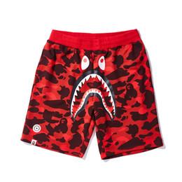Pantaloncini da uomo Bape Designer Pantaloni da spiaggia estivi moda uomo Pantaloni da uomo in cotone con stampa squalo di alta qualità da