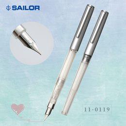 hola estándares Rebajas Sailor Japan Hi-Ace Neo Clear Standard pluma de acero inoxidable estilográfica con forma de corazón punta transparente delgada