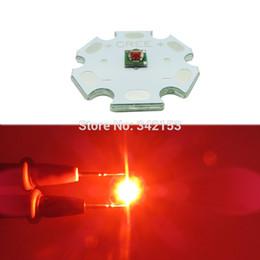 2019 cree rojo bombillas led 3W Cree XPE XP-E Led luz de la lámpara del emisor Rojo Naranja 610NM Super brillante LED Emisor Bombilla Foco Iluminación del jardín cree rojo bombillas led baratos
