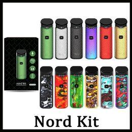 Electronic cigarette starter en Ligne-Nord Starter Kit Pod avec atomiseur de cartouche électronique batterie 3ML batterie 1100mAh avec Nord maille bobine cigarette électronique Vape Novo Pod Kit