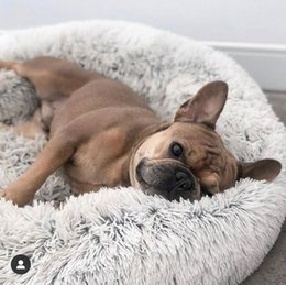 Pequeno 50cm de comprimento Plush Super macio Pet cama quente Kennel Dog Rodada Gato do inverno saco de dormir filhote de cachorro Almofada Mat fontes do gato portátil de