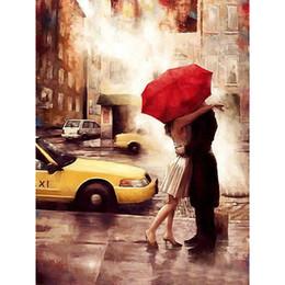2019 amantes besan pintura HENISTORIA Frame Kiss Lover Pintura de DIY por números Imagen de acrílico sobre lienzo Arte de la pared Pintura al óleo pintada a mano para la decoración del hogar CHENISTORY ... rebajas amantes besan pintura