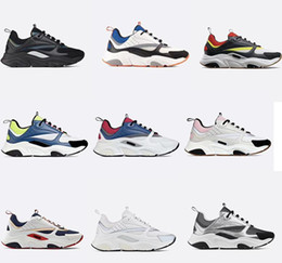 2019 filles coréennes lacer des chaussures décontractées Dernières Designer baskets B22 Vintage Baskets Hommes Femmes cuir plateforme Chaussures de sport de qualité supérieure toile et cuir de vachette Baskets Sneakers de luxe