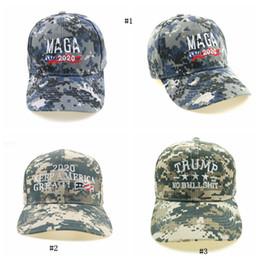Cappello di camuffamento degli uomini online-Cappello da uomo Ricamo Rendere grande l'America Cappello mimetico Cappelli di Donald Trump Cappellini da baseball MAGA Trump MMA2474-7