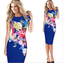Été femmes imprimées coutures en tissu élastique sac crayon hanche Casual robe designer fleur imprimer sexy sac hanche étape jupe grande taille S-5XL ? partir de fabricateur