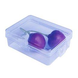 2019 conteneurs métalliques Petite boîte en plastique carré transparent PP boîte de stockage de conteneurs pour écouteurs fils électriques bijoux pièces ZC0118 conteneurs métalliques pas cher