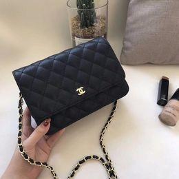 e712fe997 5A Quality Women s Handbags Woc Clutch 33814 Black Caviar Leather Mini  Single Flap Chain Shoulder Bags 20cm Small Crossbody Messenger Bag discount  gucci ...