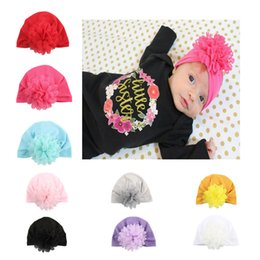 Bonito bebé recém-nascido chapéus on-line-Newborn Baby Hat Flower Winter Elasticity Caps Infant Girls Hats Boy Autumn Caps Child Cute Hat 07