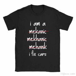 magliette meccaniche Sconti I Am A Mechanic Mens T-Shirt Car Mechanic Funny Joke Top regalo per papà