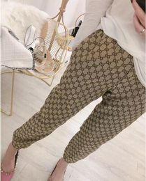 Cintura elástica calças longas on-line-19ss das mulheres Designer Calças Moda feminina Esportes Calças Basculador Longo Elástico Na Cintura Calças Pantalones