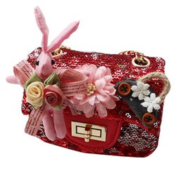 0e450b75489 New Fashion kids designer bag sequin floral princess Girls Bags Mini Girl  Shoulder Bag Childrens Messenger Bag Kids Handbags Purse A2711