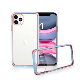 Cajas del teléfono celular de silicona clara online-Acrílico caja del teléfono celular para el iPhone 11 MAX Pro XR XS Plus X 8 Claro duro de la contraportada de Samsung Nota 10 Plus de silicona a prueba de golpes
