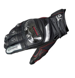 2019 nouveaux gants de peau Komine Nouvelle moto haute performance protection gants d'équitation peau de mouton écran tactile résistant à l'abrasion GK-193 promotion nouveaux gants de peau
