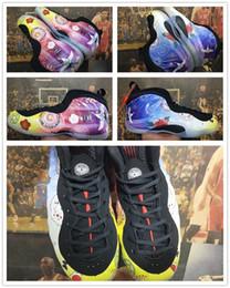 2019 caja china de satén CNY Penny Hardaway Año Nuevo Chino Multi-Color fuegos artificiales gráficos florales Hombres Zapatos de baloncesto Foam One Pro Mens Trainer con caja caja china de satén baratos