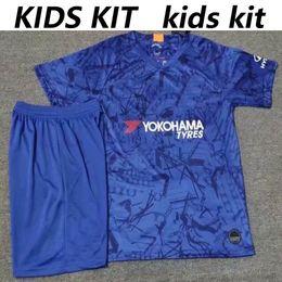 Estadios de futbol online-2019 2020 top HAZARD Home kit infantil Camiseta de fútbol camiseta corta KANTE HIGUAIN 19/20 GIROUD WILLIAN JORGINHO camiseta de fútbol juvenil